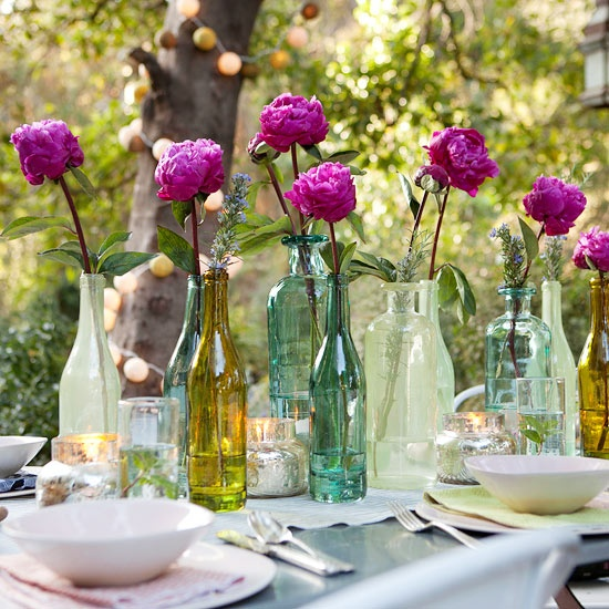 DIY Centerpieces for Rectangular Table