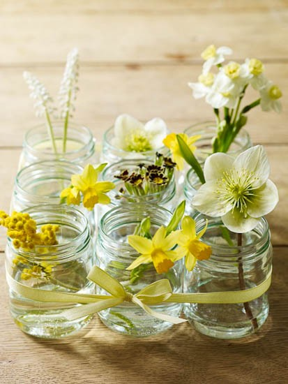 DIY Centerpieces - Yellow