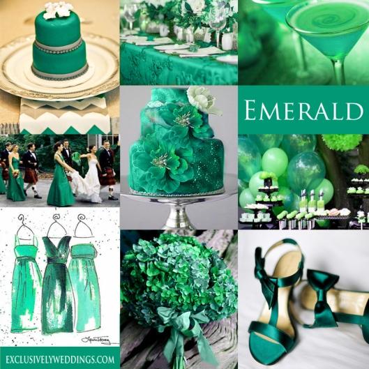 Emerald Green Wedding Color