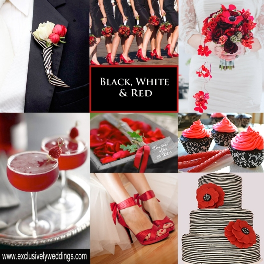 Black-White-and-Red-Wedding