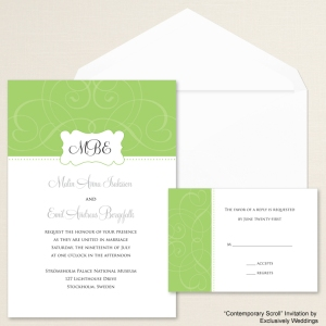 Contemporary Scroll Invitation