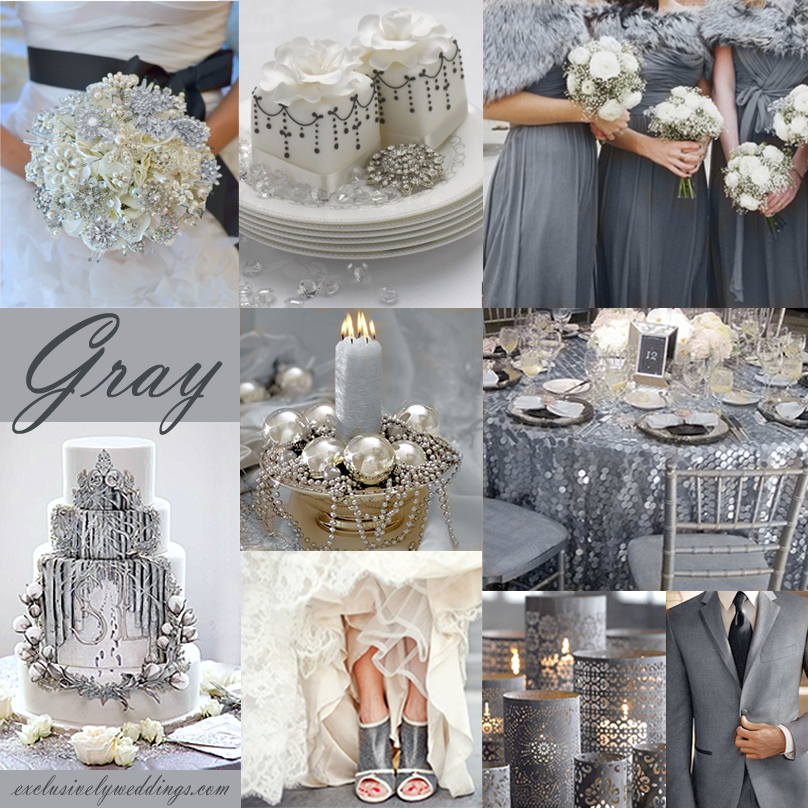 Winter wedding whats your color exclusively weddings gray wedding color theme junglespirit Images