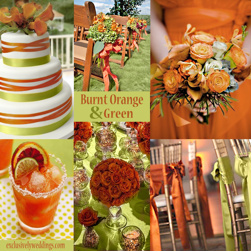 Tangerine And Green Color Story Orange Wedding Colors