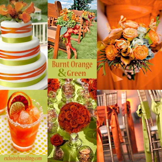 Orange and Green Wedding Colors