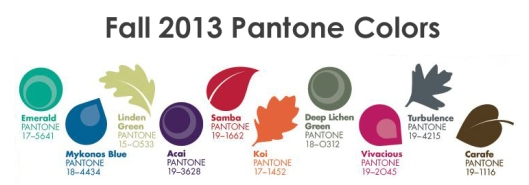 Pantone Colors - Fall 2013
