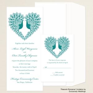 Peacock Romance Wedding Invitation