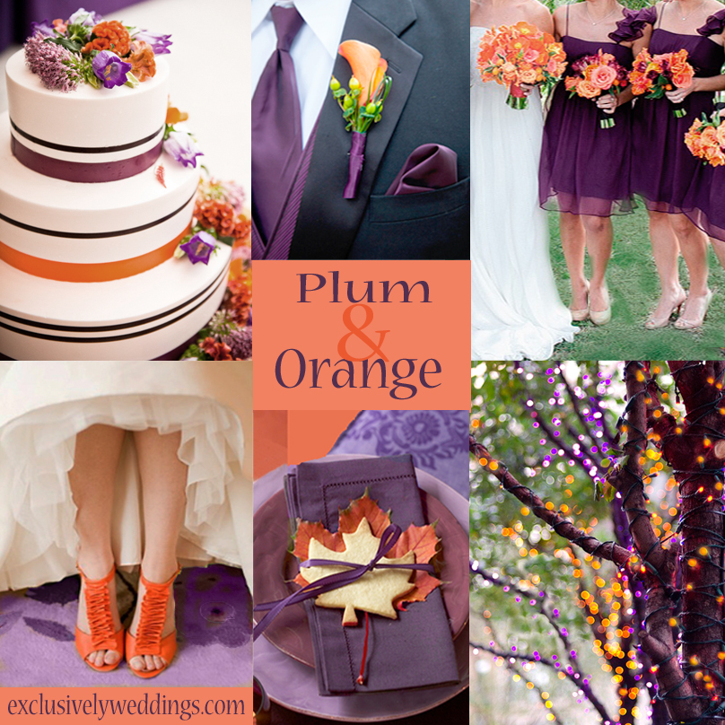 An orange color combination for your fall wedding exclusively plum and orange wedding junglespirit