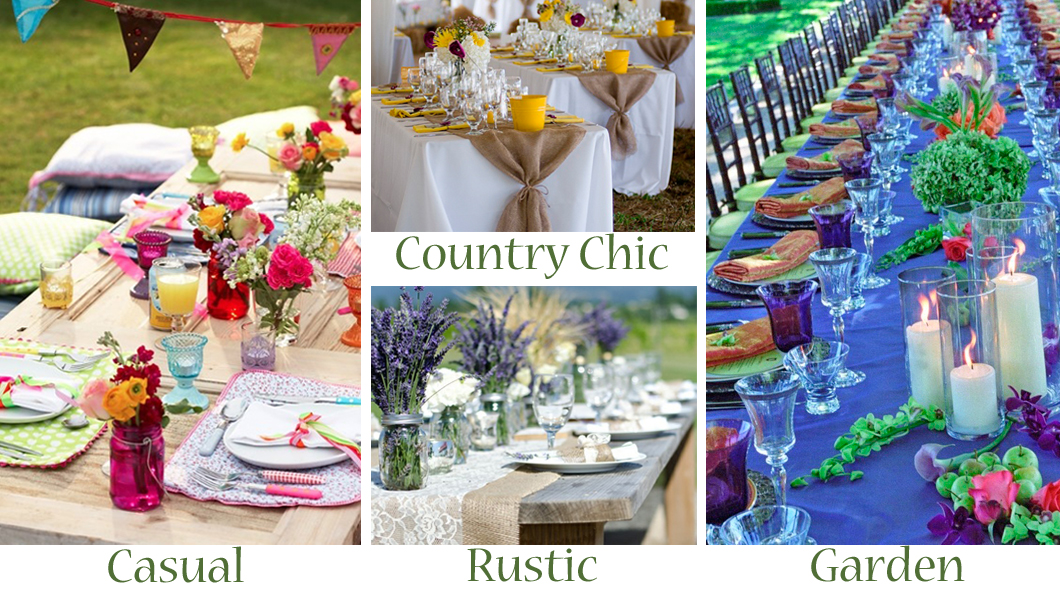 Your outdoor wedding reception whats your style exclusively outdoor wedding reception styles junglespirit Images