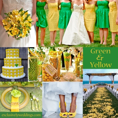 Green and Yellow Wedding Colors