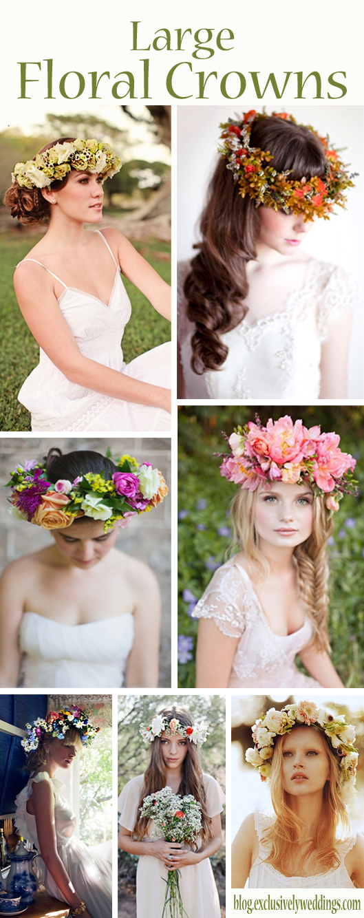 Large Floral Crowns