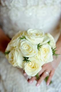 Rose Bouquet with Rosemary