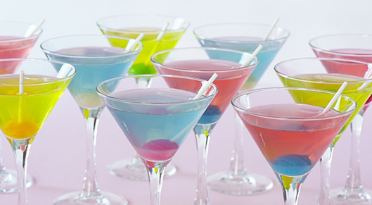 Signature Wedding Cocktail - Blow Pop Martini