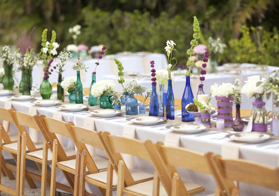 30 ways to have your dream wedding for less exclusively weddings wedding reception tablescape junglespirit Image collections