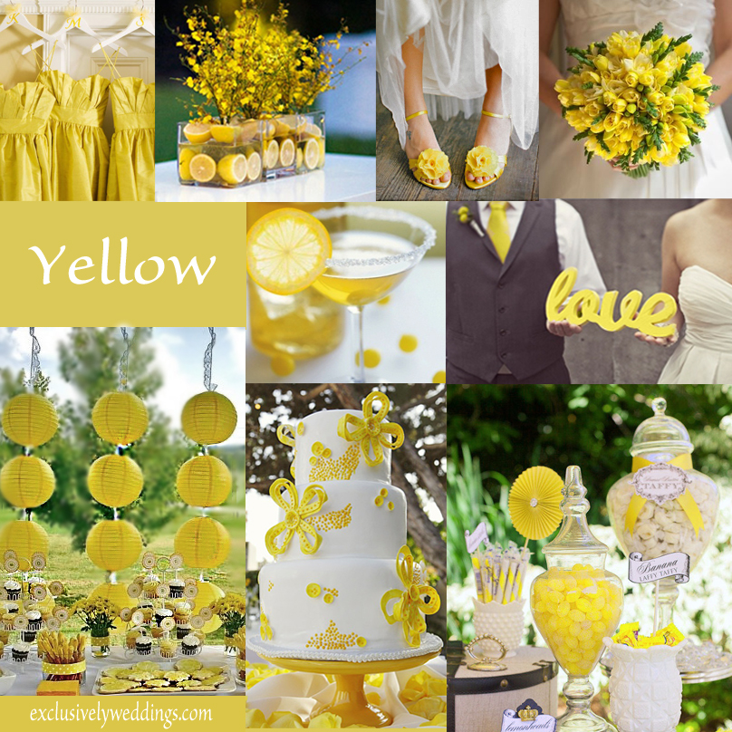 Yellow wedding color combination options exclusively weddings yellow wedding color junglespirit Images
