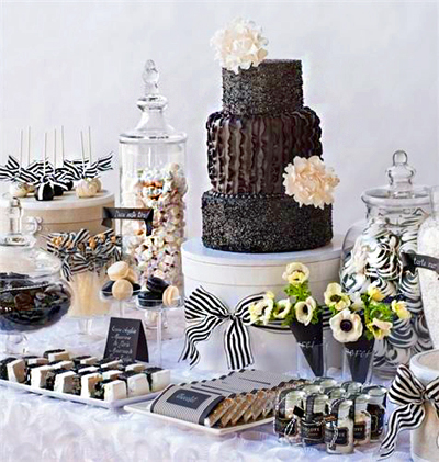 Black-and-White- Dessert-Buffet
