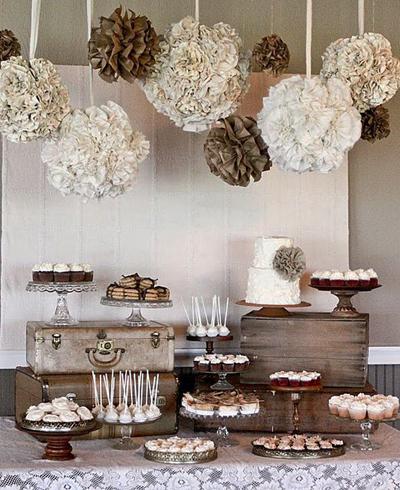 How to create the perfect wedding reception dessert bar brown wedding dessert buffet junglespirit Images