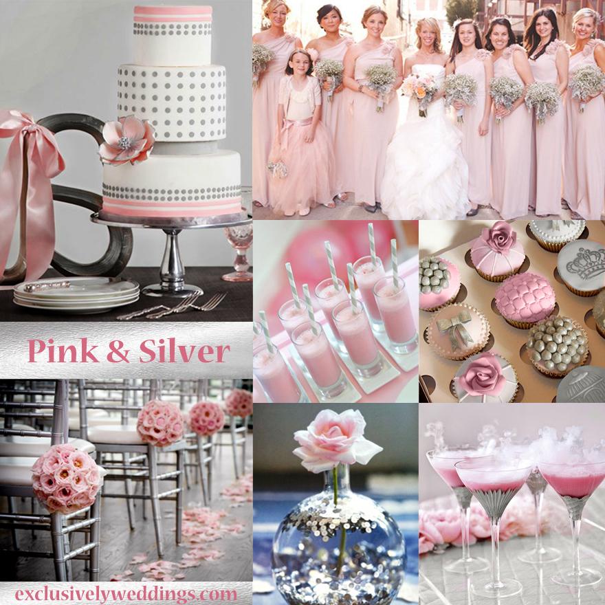 Silver And Pink Wedding Invitationjpg