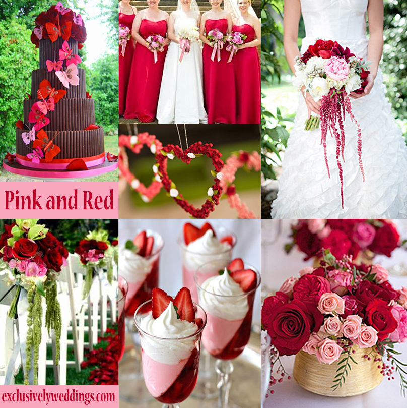Pink wedding color twelve perfect combinations exclusively pinkandredwedding junglespirit Images
