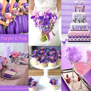 Purple and Pink Wedding