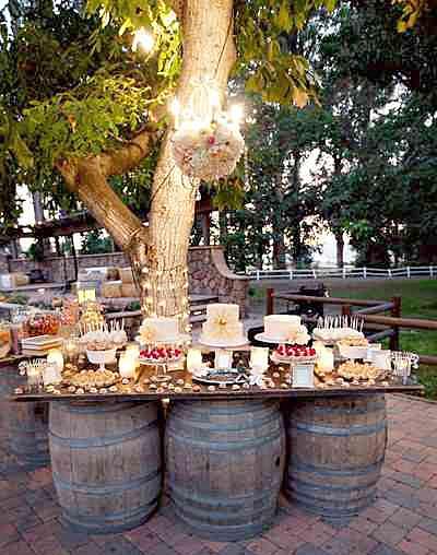 How to create the perfect wedding reception dessert bar rustic dessert bar junglespirit Images