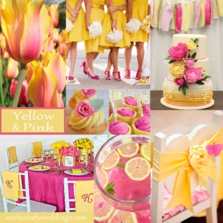 Yellow and Pink Wedding Colors