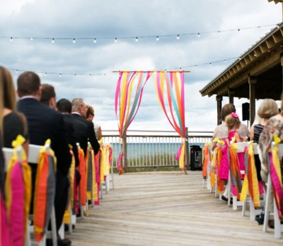Ceremony backdrop for beach wedding