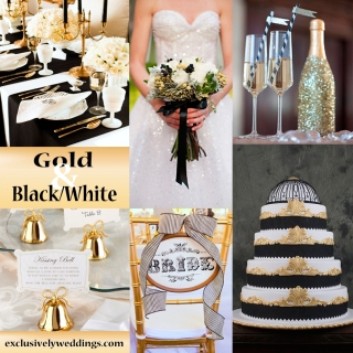 Gold-with-Black- and-White