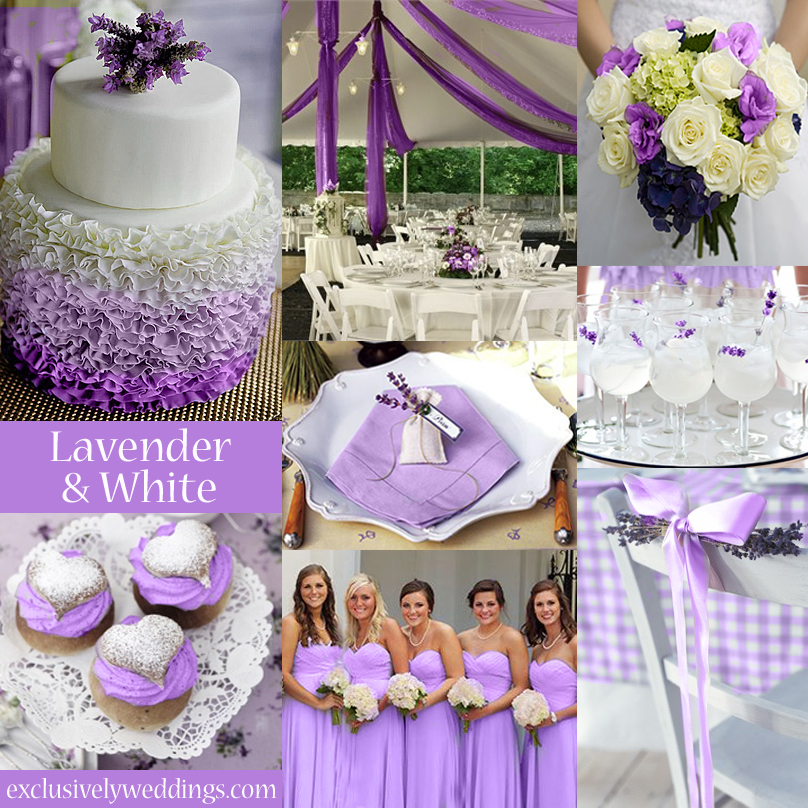 Pastel wedding colors seven dreamy combinations exclusively lavender and white wedding colors junglespirit