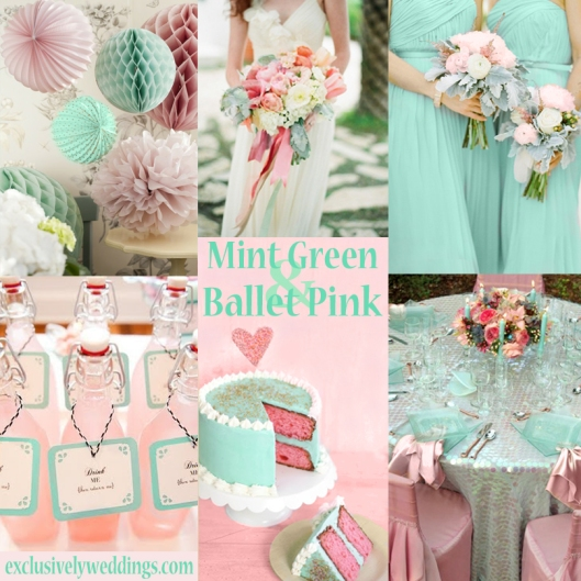 Mint Green and Ballet Pink Wedding Colors