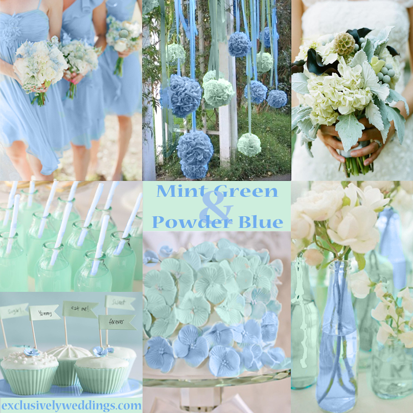 Pastel wedding colors seven dreamy combinations exclusively powder blue and mint green wedding colors junglespirit Images