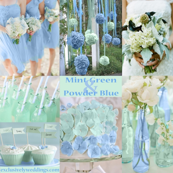 Pastel wedding colors seven dreamy combinations for Green spring gardens wedding