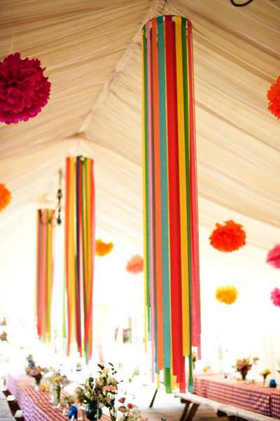 ribbon decor for ceiling