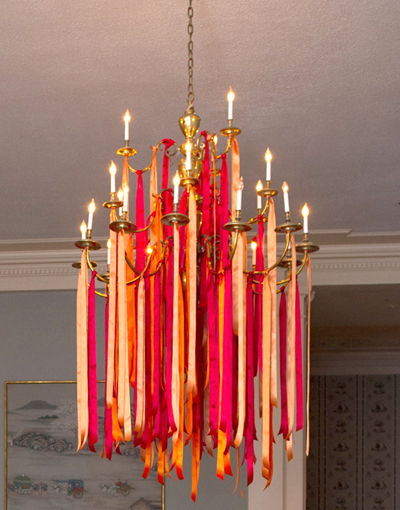 Ribbon on Chandelier