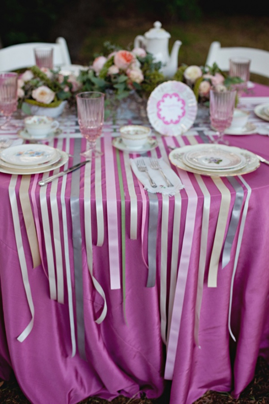 Ribbon table decor