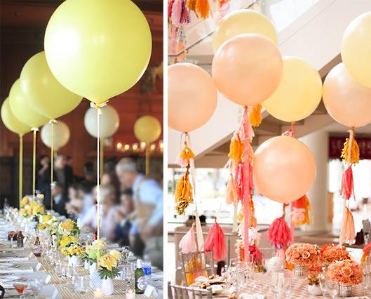 Balloons for table decor