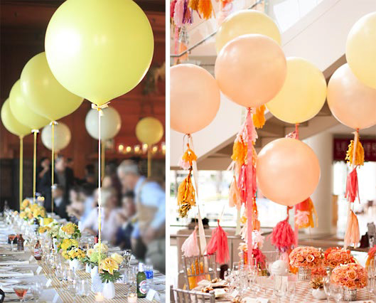 Balloons for table decor