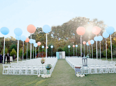 balloons for wedding ceremony