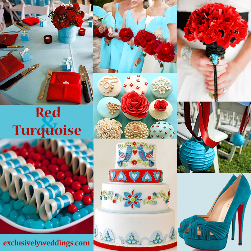 Red Wedding Color Seven Vibrant Combinations