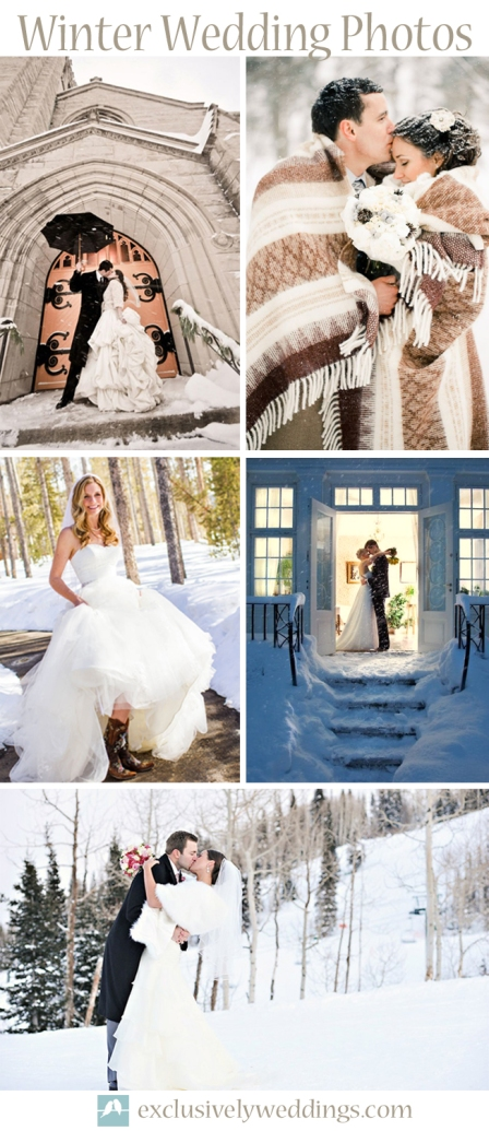 Winter Wedding Photos Outdoors