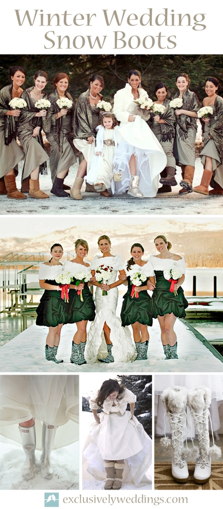 Winter Wedding Snow Boots