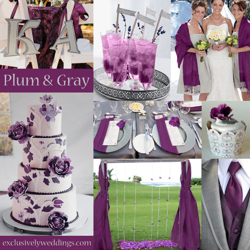 Plum And Gray Wedding Colors Olive