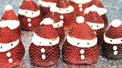 Strawberry-Santas