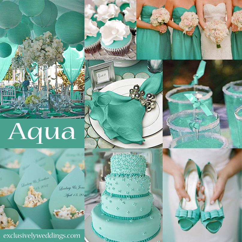 10 awesome wedding colors you havent thought of exclusively aqua wedding color junglespirit Images