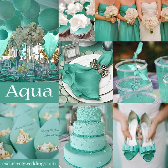 Aqua Wedding Color
