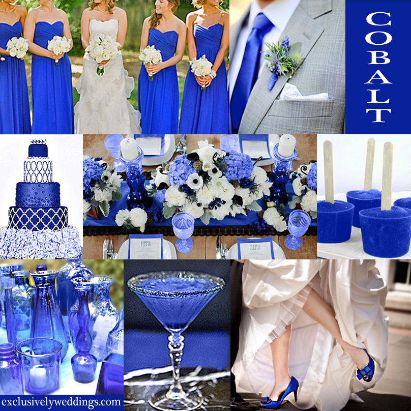 10 awesome wedding colors you havent thought of exclusively cobalt blue wedding color junglespirit Image collections