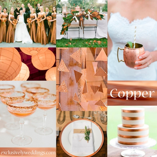 Copper Wedding Color