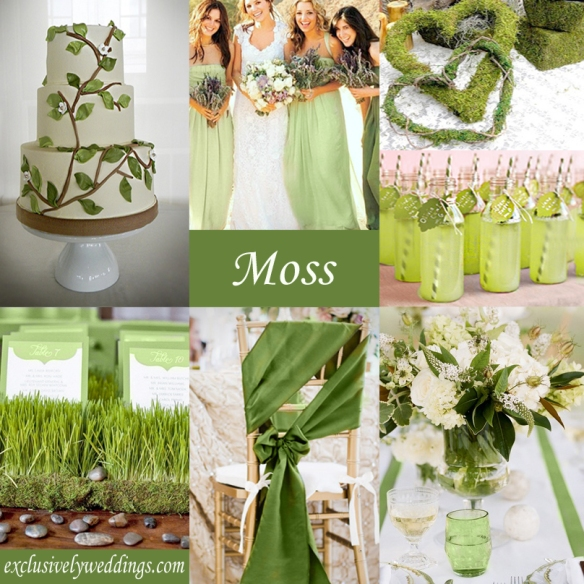 Moss Green Wedding Color Theme