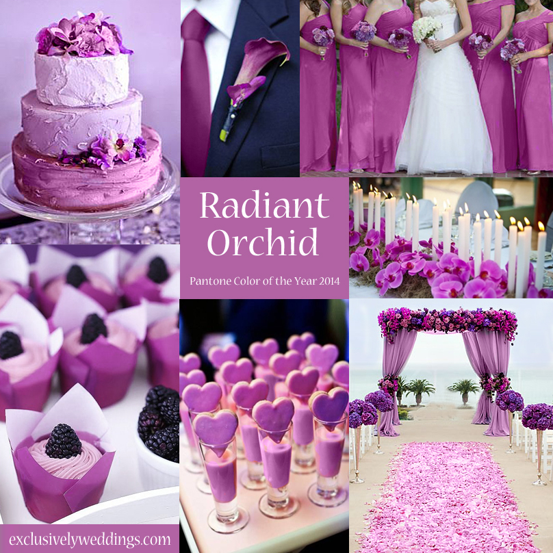 10 awesome wedding colors you havent thought of exclusively radiant orchid wedding junglespirit Images