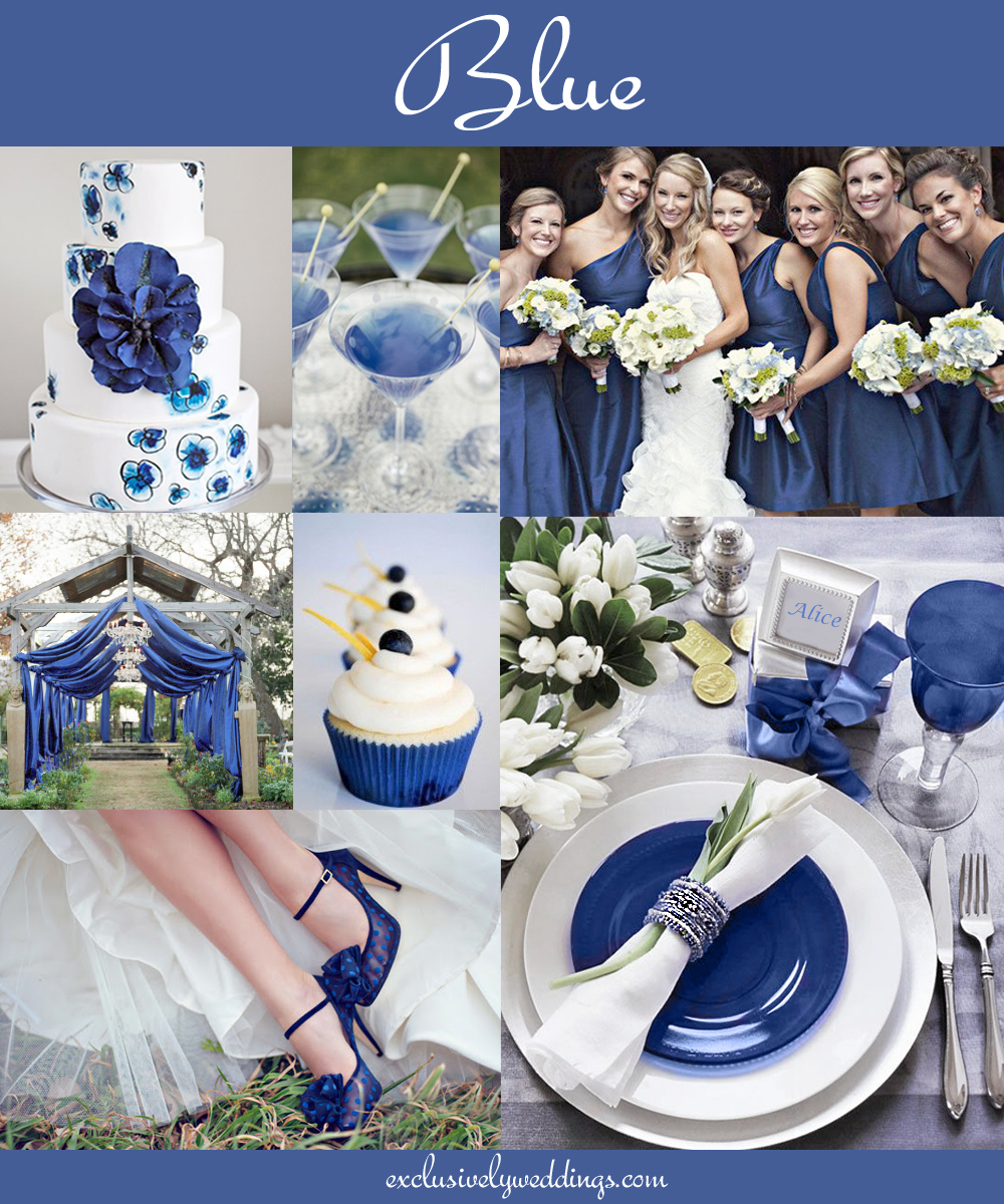 The 10 all time most popular wedding colors exclusively weddings blueweddingcolor junglespirit Choice Image