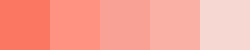 Coral Shades in Swatches